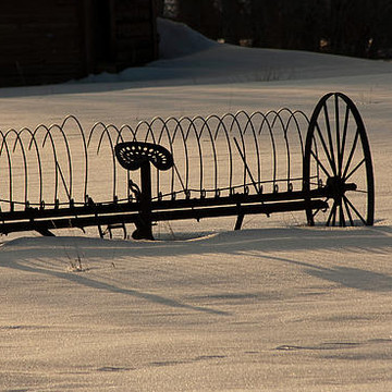 Antique Farm Equipment and Yard Art Collection
