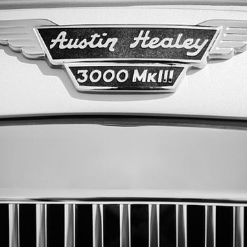 Austin-Healey - bw - sepia - antique color - antique bw Collection