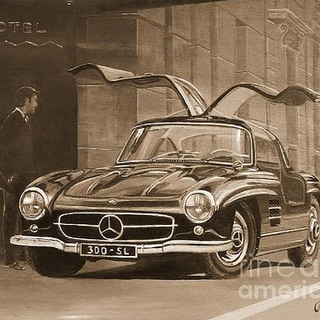 Automotive Art in Sepia Collection