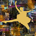 Ballerina Silhouettes Watercolor Abstracts Art Prints Gallery 1 of 7