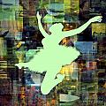 Ballerina Silhouettes Watercolor Abstracts Art Prints Gallery 2 of 7 Collection