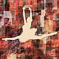 Ballerina Silhouettes Watercolor Abstracts Art Prints Gallery 5 of 7
