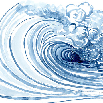 Beach - Blue Wave Modern Collection
