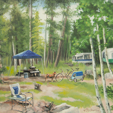 Big Lake Arizona - Oil Paintings Collection