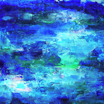 Blue Abstract Art Collection