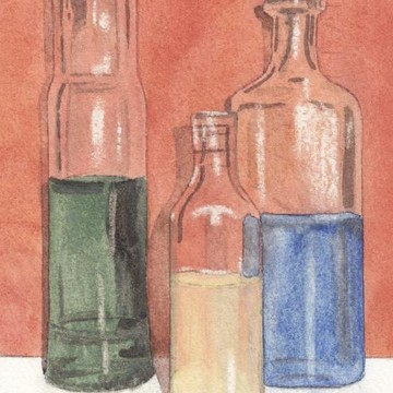 Bottle and Glass Paintings