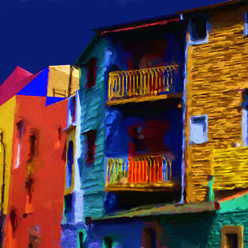 Buenos Aires Suberb Caminito Digital Paintings Collection