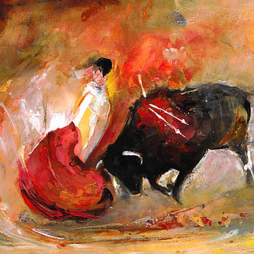 Bullfight Paintings Collection