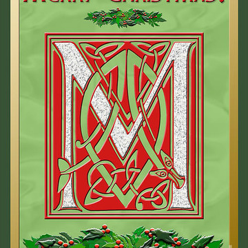 Celtic Christmas Monograms Collection