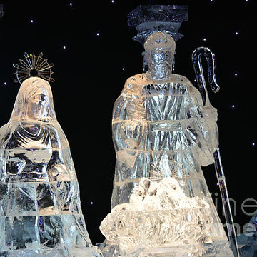 Christmas Ice Sculptures And Christmas Decorations Photo Gallery Collection