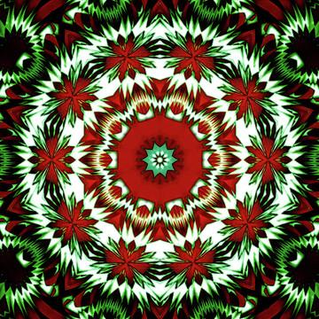 Christmas themes and holiday kaleidoscopes
