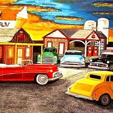 Classic vehicles featuring Oklahoma artist Larry E Lamb. Collection