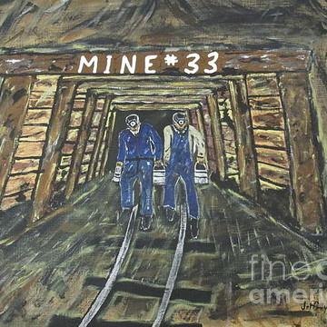 Coal mine paintings