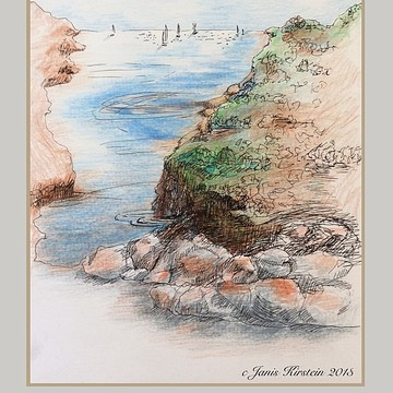 Colored Pencil Pen and Ink Landscapes Collection