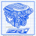 Corvette Engine Blueprints Collection