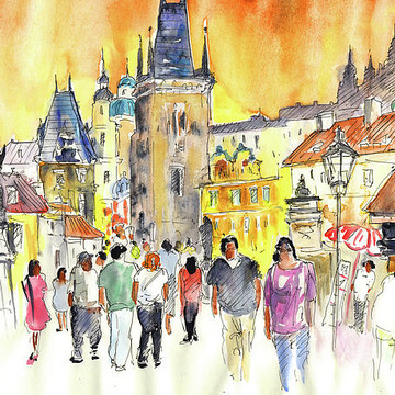 Czech Republic Sketches and Paintings Collection