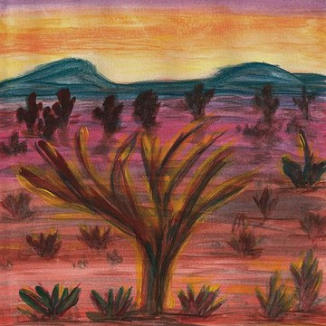 Desert Landscapes -- Water Color Collection