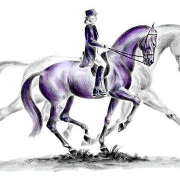 Dressage Horse Art Collection