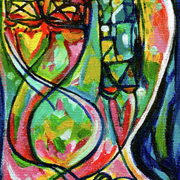 EIGHT ORIGINAL PAINTINGS LEFT FOR PUBLIC ART BANNERS ST. LOUIS MISSOURI Creve Coeur Streetlight Banners Whimsical Motion For Olive Blvd. Collection
