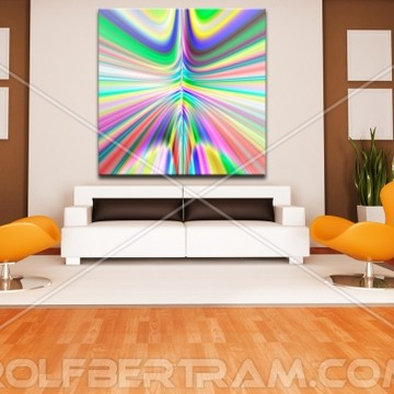 Examples of Modern Art by Rolf Bertram in Interior Design Settings Collection