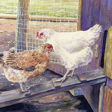 Farm Animals and Scenery Paintings Collection