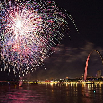 Fireworks at the Gateway Arch Collection