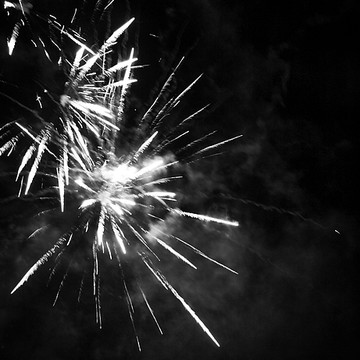 Fireworks in Black and White Collection