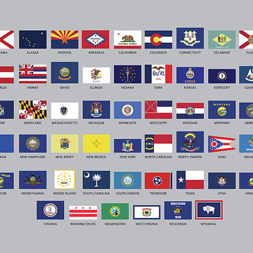 Flags of American States Collection