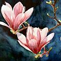 Flowers And Trees Watercolours Paintings Collection