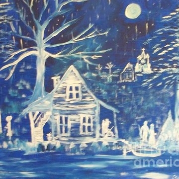 Folk Art In Blue Collection