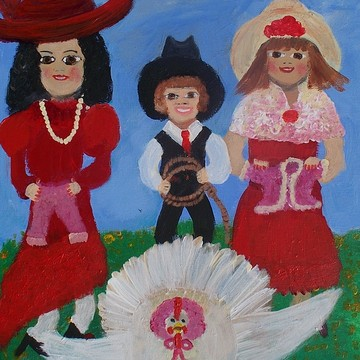 Folk Art With Red Collection