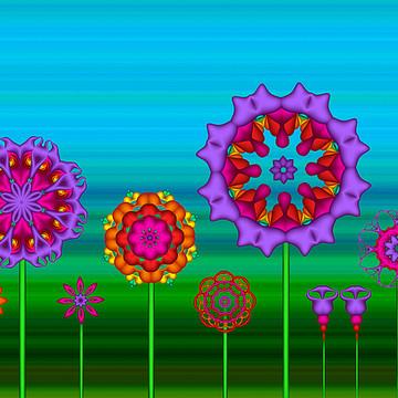 Fractal Flower Garden Collection