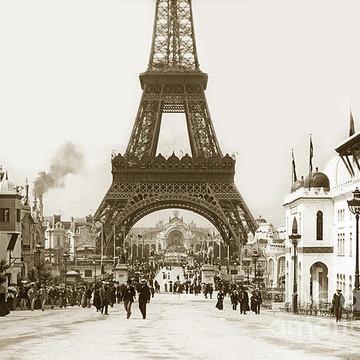 France Eiffel Tower Paris France 1900