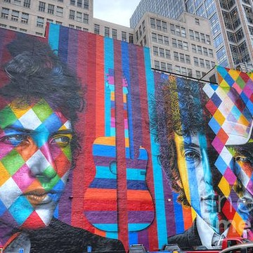 Giant Bob Dylan Mural Minneapolis Collection