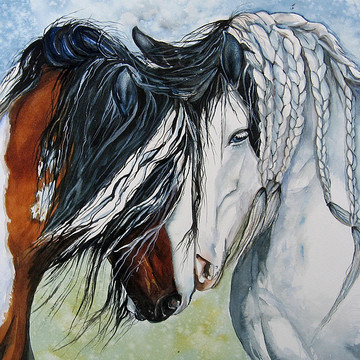 Gina Hall Gallery of original equine watercolor paintings Collection