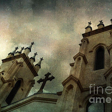 Gothic Ravens Crows-Gothic Church Prints Collection