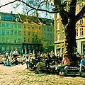 Graabroeder Torv Grey Brothers Square Copenhagen Digital Paintings Collection