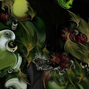 Green Accents  by Carmen Fine Art