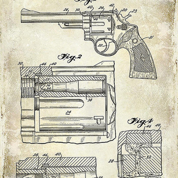 Guns and Firearms Patent Drawings Collection
