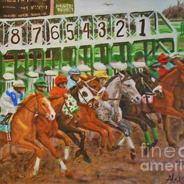 Horse Racing and sporting scenes