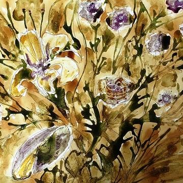 Ikebana Flower Paintings Collection