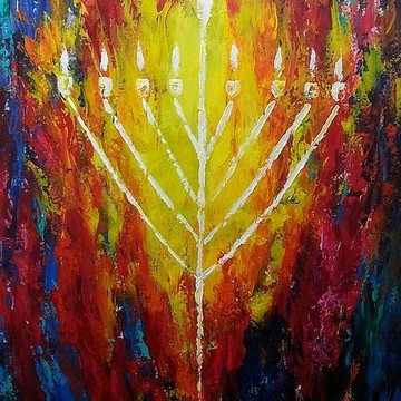 Jewish Acrylic Paintings Collection