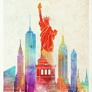 Landmarks Watercolor Posters