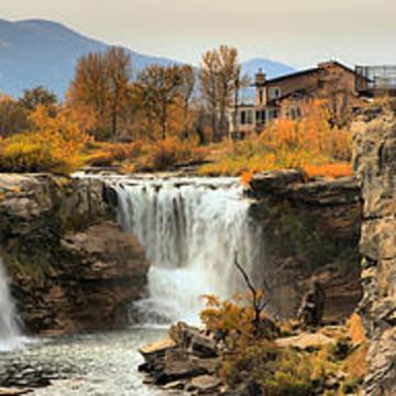 Lundbreck Falls Provincial Park In Alberta Canada Collection