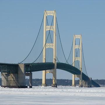 Mackinac Bridge in Winter Collection