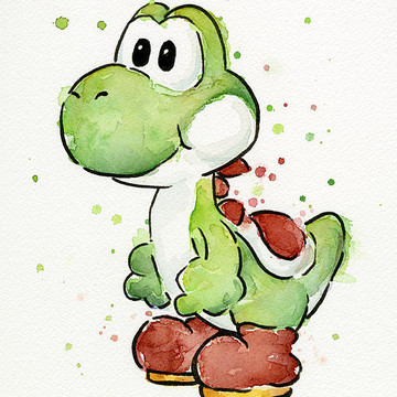Mario Watercolor