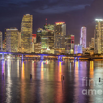 Miami Skyline and Miami Beach Collection