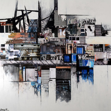 Mixed media Cityscapes Collection