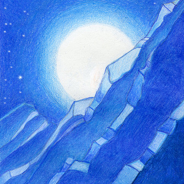 Moon and Mountains - Illustrations Collection
