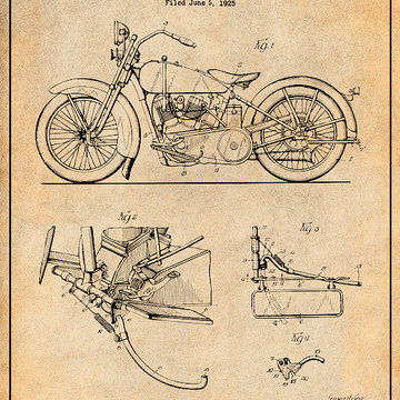 Motorcycle Patent Prints Collection